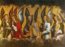 Angels Playing Musical Instruments by Hans Memling