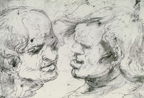 Two Heads von Leonardo Da Vinci
