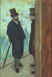 Friends at the Theatre, Ludovic Halevy and Albert Cave 1878-79 by Edgar Degas