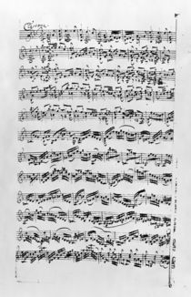 Copy of 'Partita in D Minor for Violin' by Johann Sebastian Bach by Anna Magdalena Bach