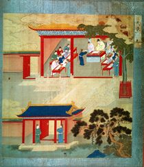 Civil Service Exam Under Emperor Jen Tsung from a history of Chinese emperors von Chinese School