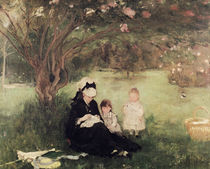 Beneath the Lilac at Maurecourt von Berthe Morisot