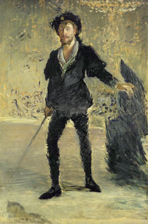 Jean Baptiste Faure in the Opera 'Hamlet' by Ambroise Thomas by Edouard Manet