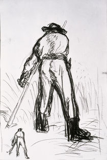 Two Reapers Seen from the Back by Jean-Francois Millet
