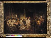 Emile Jean Horace Vernet Discussing the Invention of the Daguerreotype in Monsieur Irisson's Salon von Prosper Lafaye or Lafait