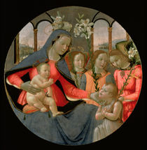 Virgin and Child with St. John the Baptist and the Three Archangels by Bastiano Mainardi