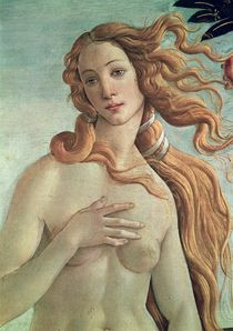 Venus, detail from The Birth of Venus von Sandro Botticelli