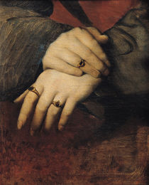 Study of a Woman's Hands, after the portrait of Maddalena Doni by Raphael by Jean Auguste Dominique Ingres