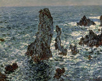 The Rocks at Belle-Ile, 1886 von Claude Monet