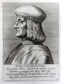 Aldus Manutius by French School