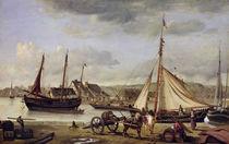 The Merchant's Quay at Rouen von Jean Baptiste Camille Corot
