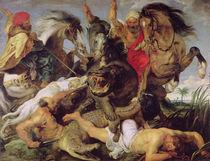 Hippopotamus and Crocodile Hunt von Peter Paul Rubens