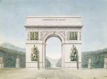 Design for the Arc de Triomphe with a wooded background von Jean Francois Therese Chalgrin
