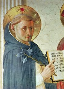The Madonna delle Ombre, detail of St. Dominic by Fra Angelico