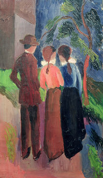 The Walk, 1914 by August Macke