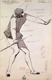 Costume design for an Acrobat in 'Benvenuto Cellini' by Hector Berlioz von Paul Lormier