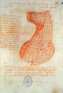Drawing of the Ironwork Casting Mould for the Head of the Sforza Horse von Leonardo Da Vinci