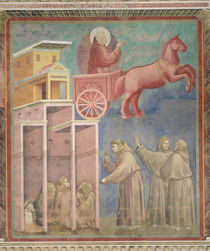 St. Francis Appears to His Companions in a Chariot of Fire by Giotto di Bondone