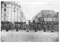 Barricade at the Faubourg Saint-Antoine during the Commune by French School