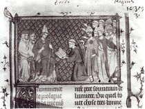 Ms.Fr. 5716 f.2 Jean d'Antioch before Martin IV by French School