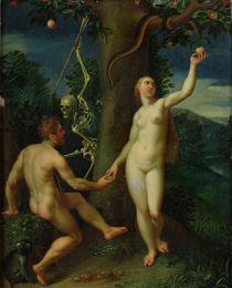 Adam and Eve by Hans I or Johann Rottenhammer