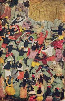 Battle Between the Armies of Rama and Ravana by Indian School