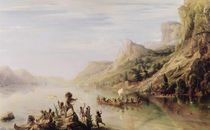 Jacques Cartier Discovering the St. Lawrence River in 1535 by Jean Antoine Theodore Gudin