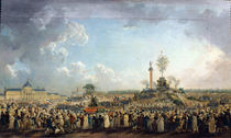The Festival of the Supreme Being at the Champ de Mars by Pierre Antoine Demachy
