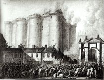 Siege of the Bastille, 14th July 1789 by Jean Louis the Younger Prieur