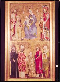 Votive panel of Archbishop Jan Ocko of Vlasim depicting The Virgin and Child surrounded by St. Sigismund von Theodoricus of Prague