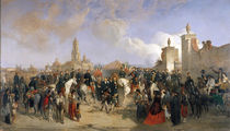 Entrance of the French Expeditionary Corps into Mexico City by Jean Adolphe Beauce