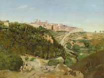 Volterra, 1834 by Jean Baptiste Camille Corot