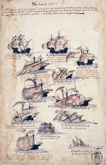 Pedro Alvares Cabral Arriving in Brazil in 1500 by Portuguese School