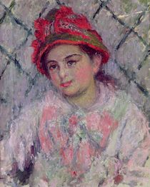 Portrait of Blanche Hoschede as a Young Girl by Claude Monet
