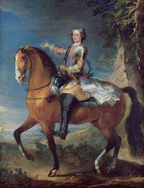 Equestrian Portrait of Louis XV at the age of thirteen by C. & Van Loo, J. B. Parrocel