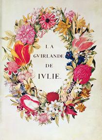 Frontispiece of 'La Guirlande de Julie' von Nicolas Robert