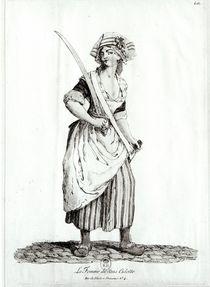 Female Sans-Culotte, 1792 by French School