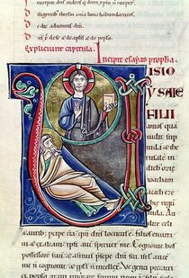 Ms 3 Historiated initial 'V' or 'U' depicting the Prophecy of Isaiah by French School