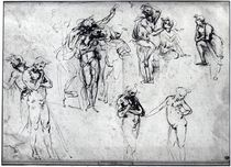 Study of nude men by Leonardo Da Vinci