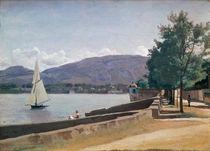 The Quai des Paquis, Geneva by Jean Baptiste Camille Corot