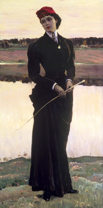 Portrait of Olga Nesterova or by Mikhail Vasilievich Nesterov
