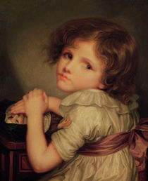 Child with a Doll von Anne Genevieve Greuze