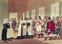Meeting between Louis XIII and Marie-Louise Motier de la Fayette at l'Hotel-Dieu by Hippolyte Lecomte