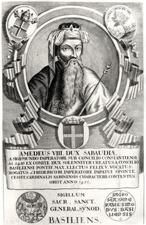 Portrait of Amedee VIII Le Pacifique by French School