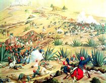 The Battle of Puebla, 5 May 1862 von Mexican School