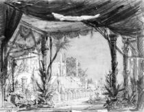 Stage set for 'Les Troyens' by Hector Berlioz 1863 by Philippe Marie Chaperon
