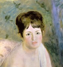 Woman's Head, c.1876 von Pierre-Auguste Renoir