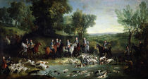 Louis XV Stag Hunting in the Forest at Saint-Germain by Jean-Baptiste Oudry