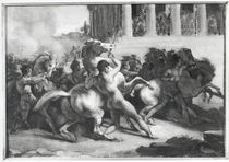 Study for the Race of the Barbarian Horses by Theodore Gericault