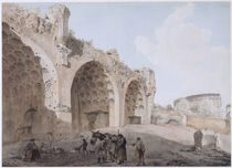 View in the Roman Forum 1779 by Abraham Louis Rudolph Ducros